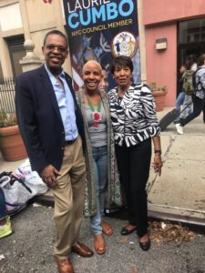 Dr. Moore, Council Leader Cumbo, Dr. Sweeney at the Assemblyman Walter Mosley Campaign Event